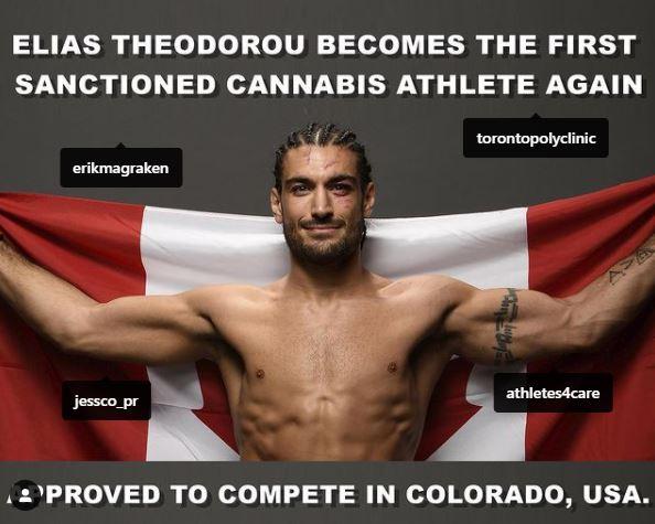 Elias Theodorou Cannabis Athlete